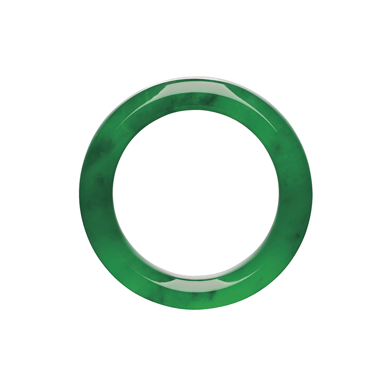 LOT 1771 - ANOTHER IMAGE OF THE HIGHLY IMPORTANT AND SUPERB JADEITE BANGLE
