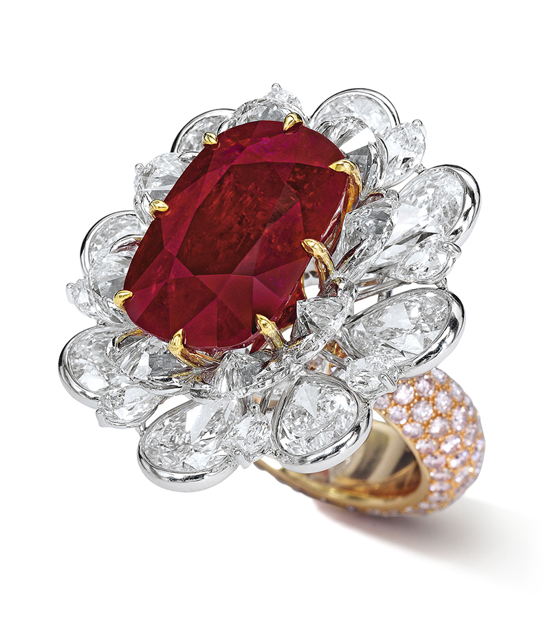 LOT 1779 - titled AN IMPORTANT AND SPECTACULAR RUBY AND DIAMOND RING