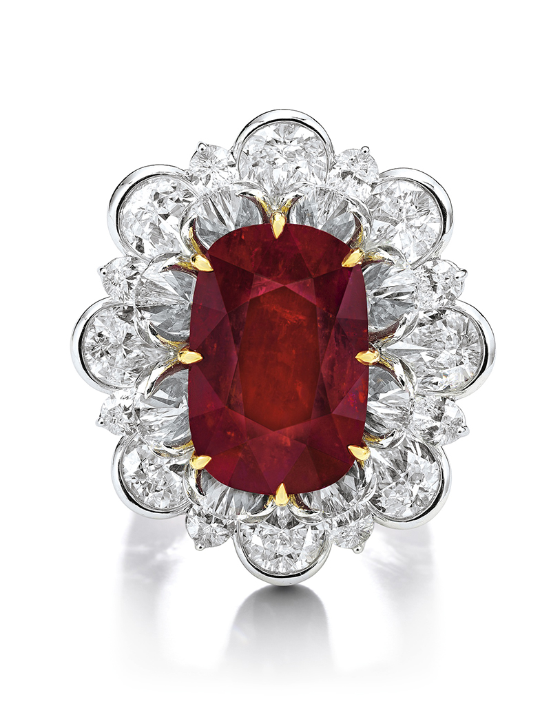 LOT 1779 - ANOTHER IMAGE OF THE IMPORTANT AND SPECTACULAR RUBY AND DIAMOND RING