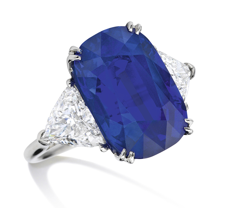 LOT 1773 - AN IMPORTANT SAPPHIRE AND DIAMOND RING, CARTIER,