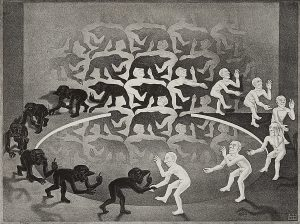 Lot 76: M.C. Escher Encounter $8,000 - 12,000