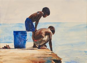 Lot 93: Stephen Scott Young First Study, Fishing, Bahamas  $14,000 - 18,000