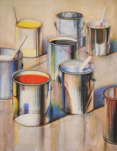 Lot 733: Wayne Thiebaud Paint Cans $25,000 - 35,000