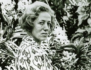 Clara Sujo in her Garden at Quinta Jacaranda, Caracas, 1972  Courtesy of The Getty Research Institute