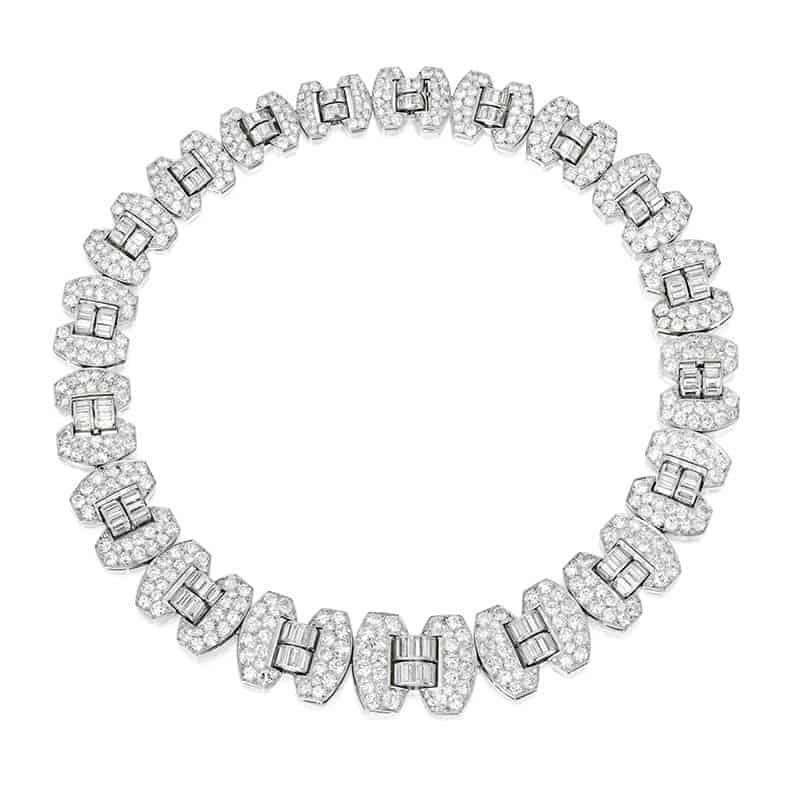 LOT 209 - DIAMOND NECKLACE-BRACELET COMBINATION, CHAUMET, FRANCE
