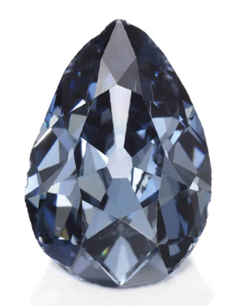 LOT 377 - HISTORIC AND HIGHLY IMPORTANT FANCY DARK GREY-BLUE DIAMOND JEWEL