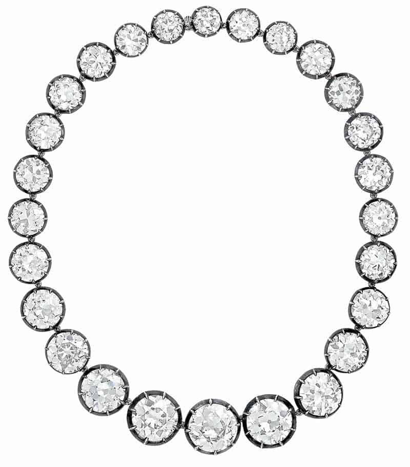LOT 352 - IMPRESSIVE DIAMOND RIVIÈRE NECKLACE
