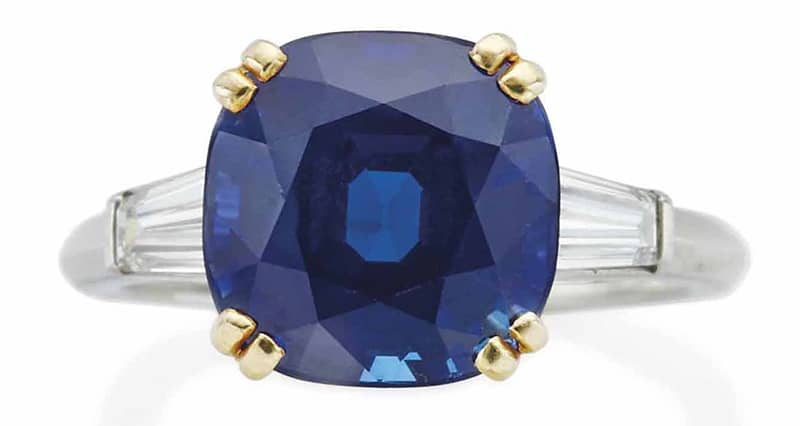 LOT 183 - SAPPHIRE AND DIAMOND RING, BY BOUCHERON