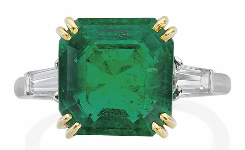 LOT 184 – EMERALD AND DIAMOND RING, BY BOUCHERON