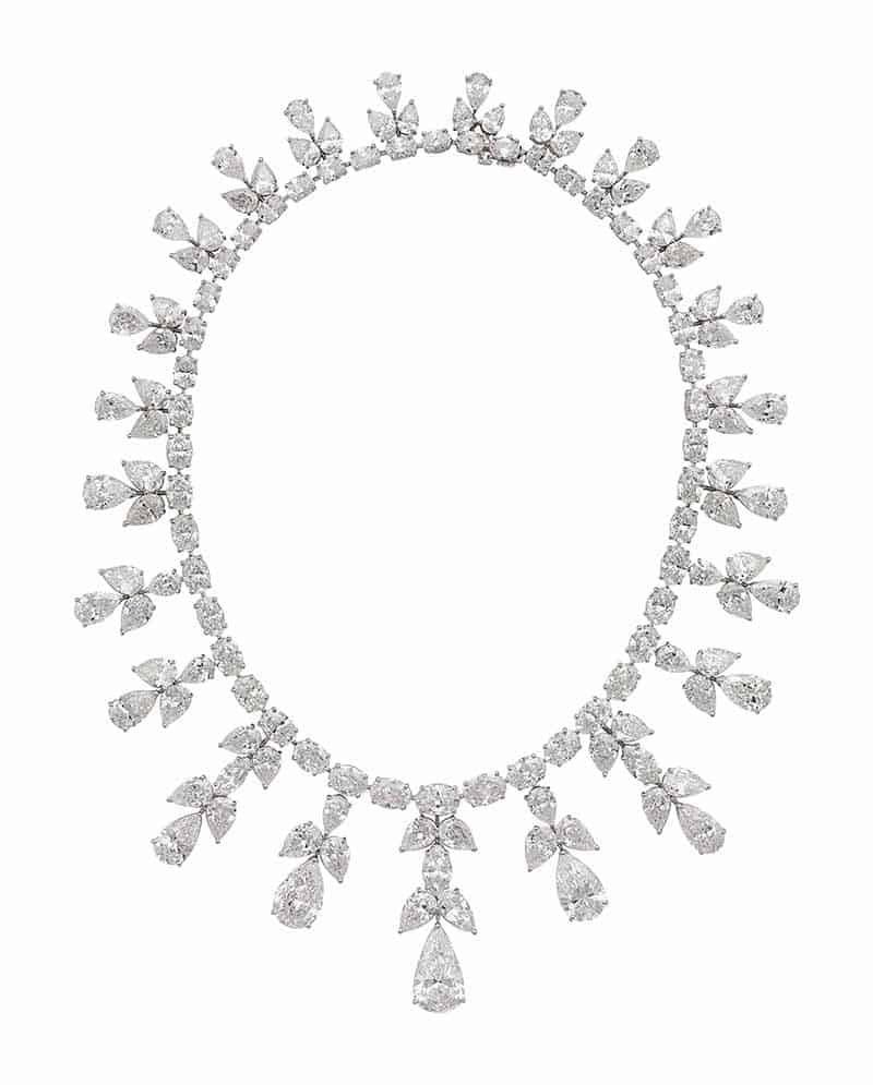 LOT 189 - A MAGNIFICENT DIAMOND FRINGE NECKLACE