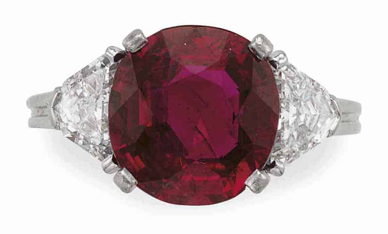 LOT 167 - THE BERLIN RUBY A RUBY AND DIAMOND RING, BY TIFFANY & CO