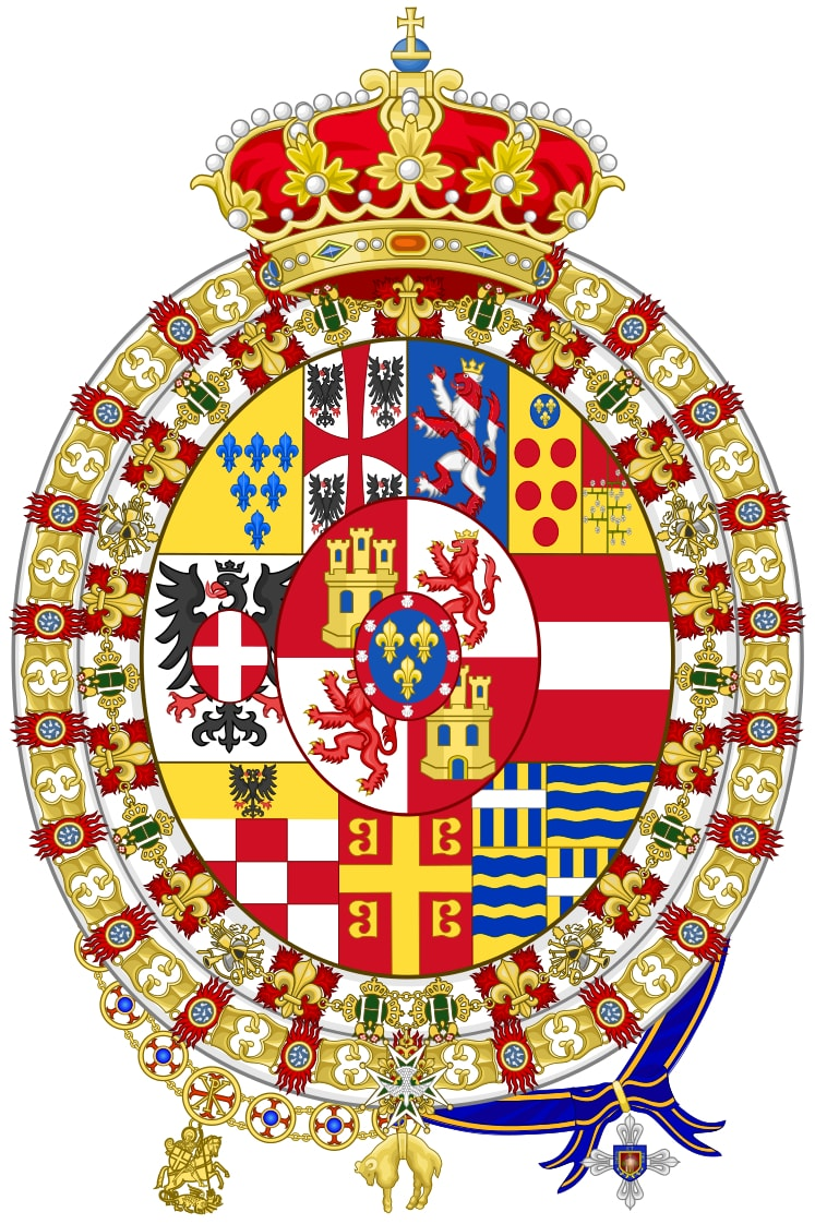 COAT-OF-ARMS OF HOUSE OF BOURBON-PARMA