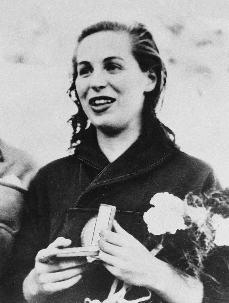 KATHERINE DOMYAN AT THE TIME SHE WON GOLD AT THE 1952 OLYMPICS