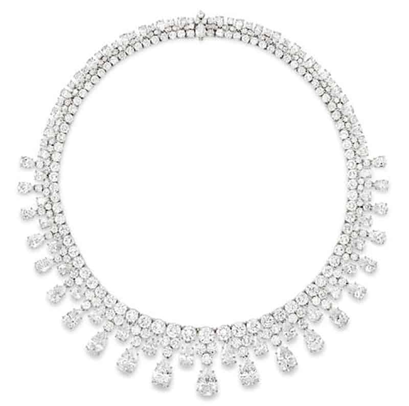 LOT 112 - A DIAMOND NECKLACE, HARRY WINSTON, 1984