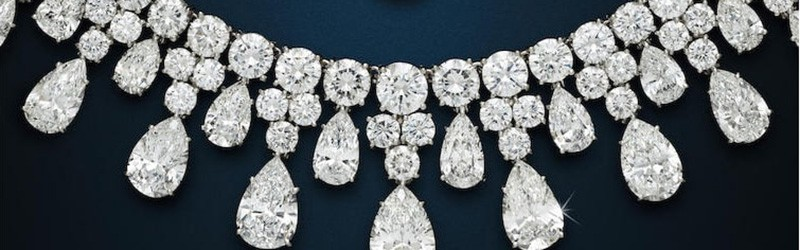 LOT 112 - SECTION OF THE DIAMOND NECKLACE HARRY WINSTON 1984
