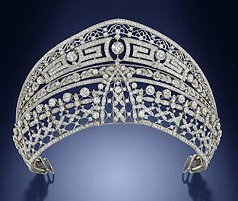 A Belle Époque Diamond 'Meander' Tiara by Ansorena, circa 1900