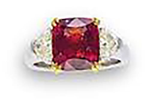 LOT 508 - A SPINEL AND DIAMOND