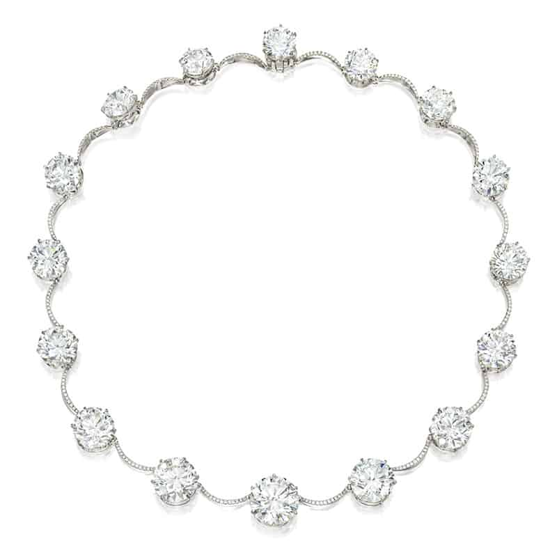 LOT 1855 - A SPECTACULAR DIAMOND NECKLACE