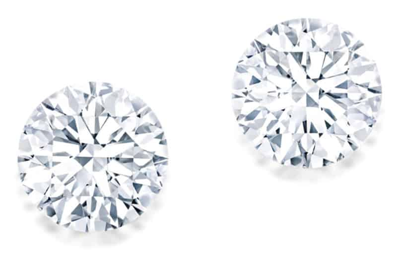 LOT 1753 - A FINE PAIR OF UNMOUNTED DIAMONDS