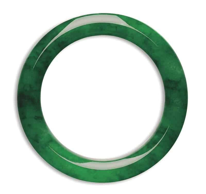 LOT-1862 - AN IMPORTANT JADEITE BANGLE