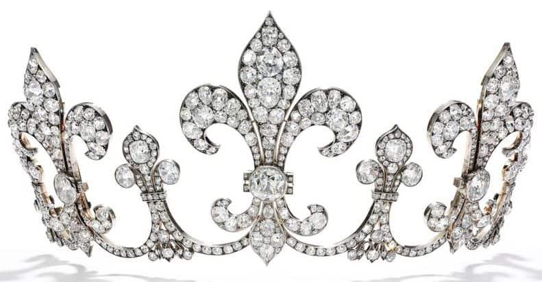 DIAMOND TIARA BY HUBNER, DESIGNED CIRCA 1912
