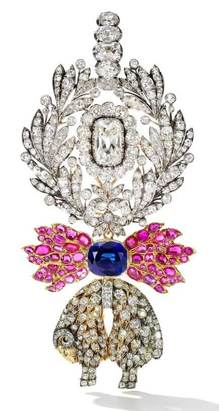 SAPPHIRE, RUBY AND DIAMOND JEWELED BADGE OF THE ORDER OF THE GOLDEN FLEECE