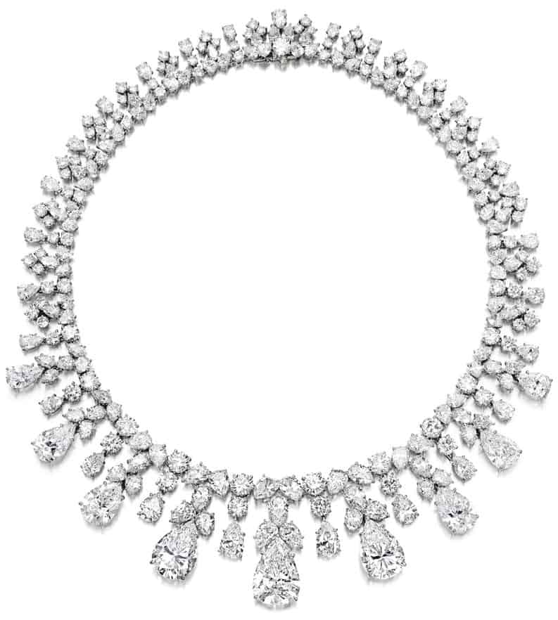LOT 569 - MAGNIFICENT DIAMOND NECKLACE, HARRY WINSTON