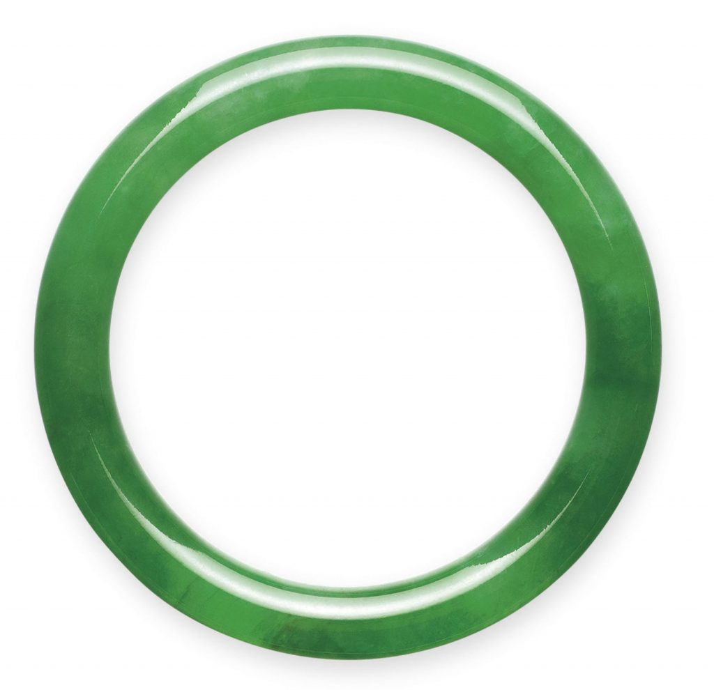 LOT NO 1925, titled an IMPORTANT JADEITE BANGLE