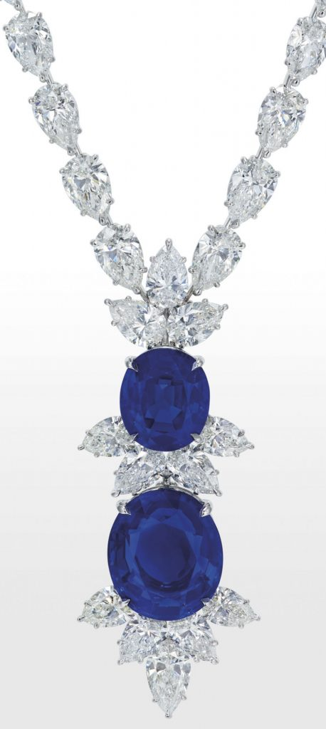 LOT-1939 - IMPORTANT SAPPHIRE AND DIAMOND NECKLACE