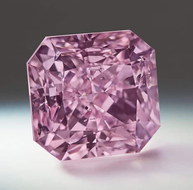 Lot 2 - Argyle Ethereal - A 2.45-carat, square radiant-cut, Fancy Intense Purple-Pink diamond.