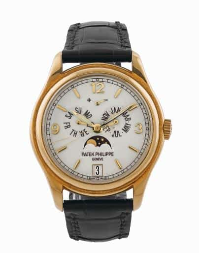 Lot 109 - Patek Phillipe ANNUAL CALENDAR 18CT YELLOW GOLD COMPLETE SET