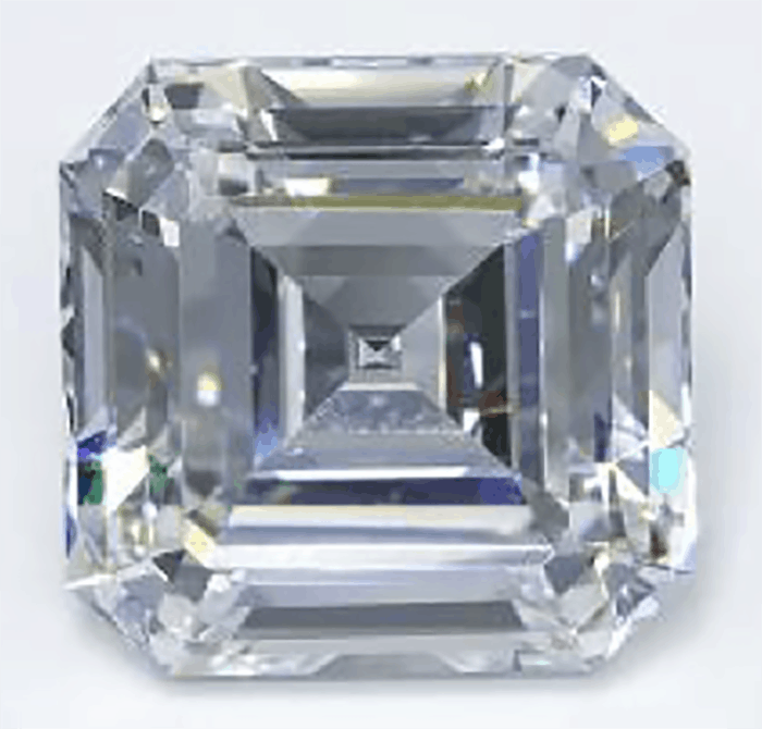 10.02 carat square emerald cut E-color VS1-clarity lab-grown diamond