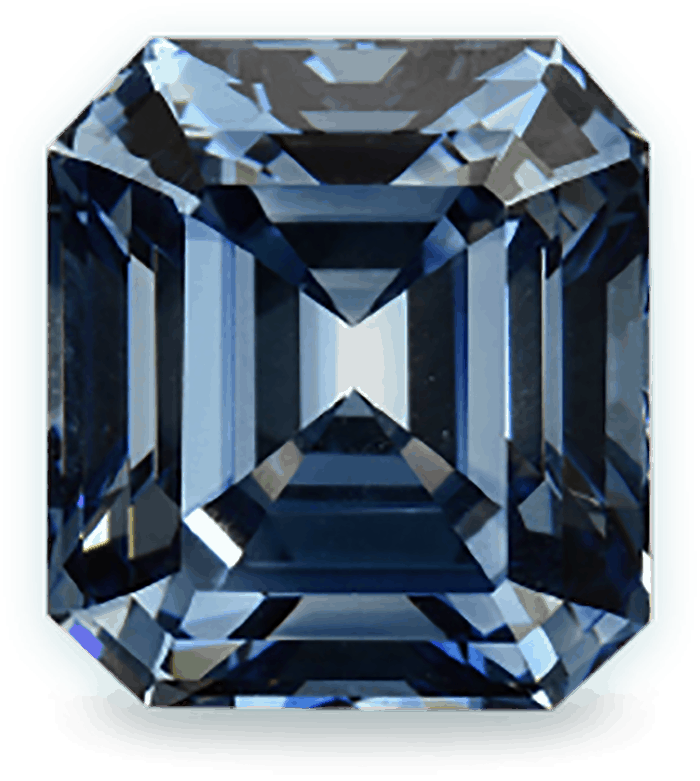10.07 ct fancy deep blue SI-clarity emerald-cut lab-grown diamond