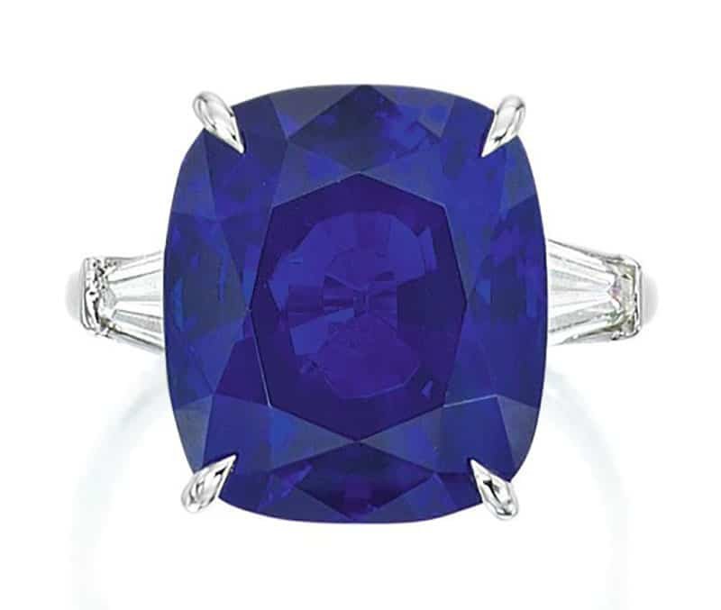 Lot 89 – An Important Sapphire and Diamond Ring
