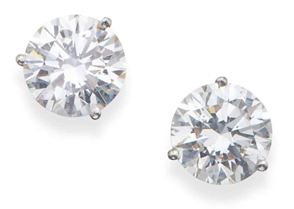 Lot 116 - Pair of Diamond Earstuds