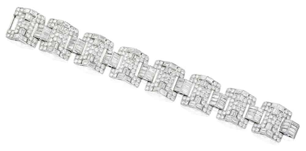 Lot 16 - A Cartier Paris Diamond Bracelet