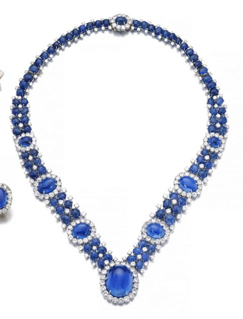 LOT 181 - IMPORTANT SAPPHIRE AND DIAMOND PARURE