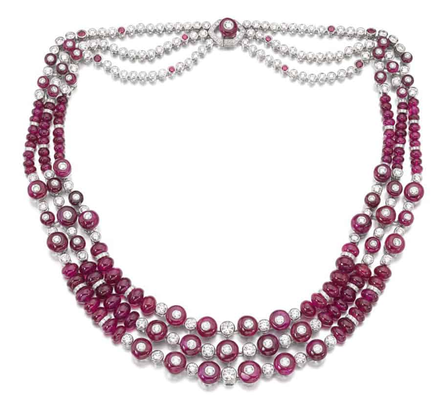 LOT 115 - GRAFF RUBY AND DIAMOND NECKLACE