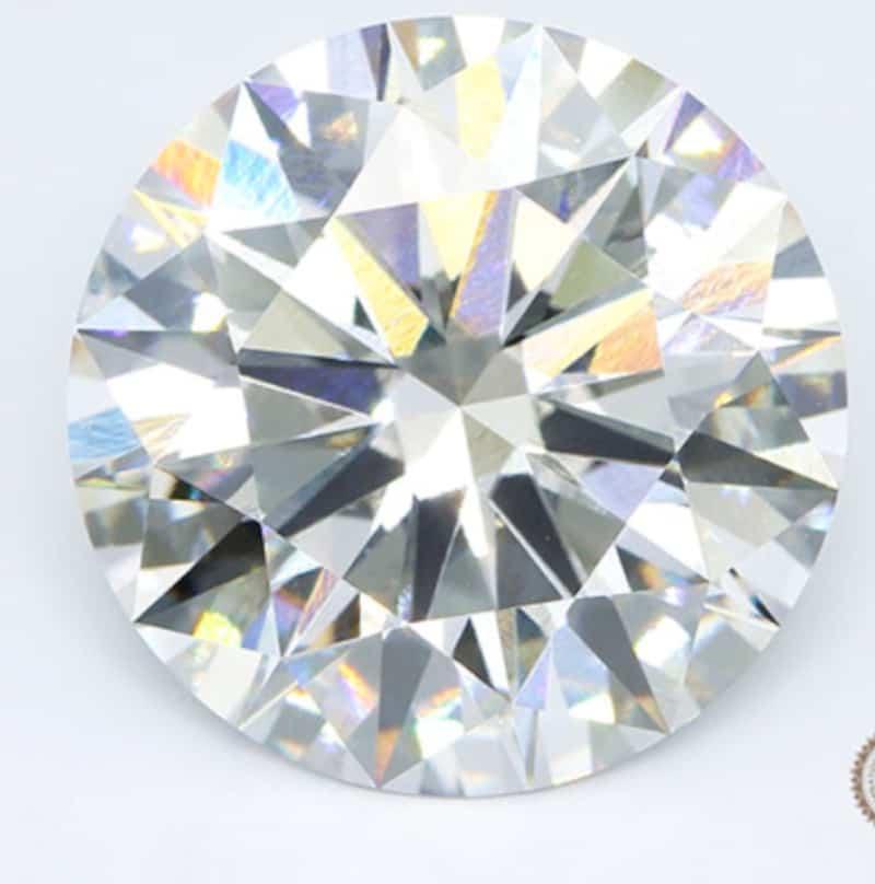 The 12.75-carat, Type IIa, F-color, VVS2-clarity, round brilliant-cut diamond
