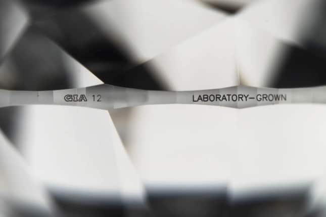 Inscription on lab grown diamonds