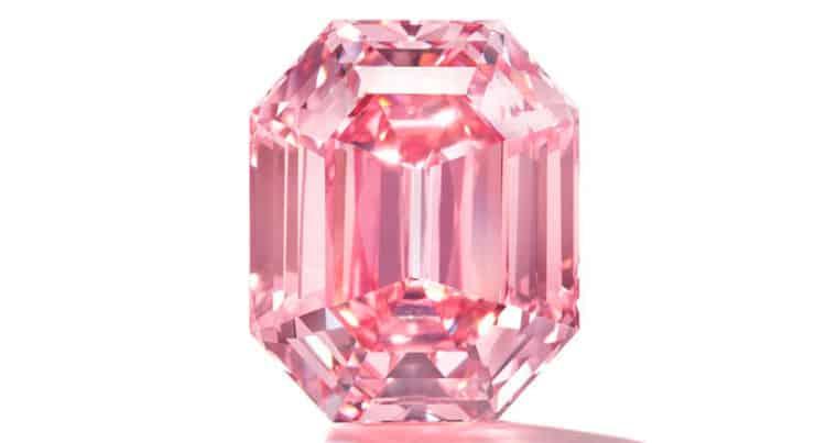 18.96-carat rectangular emeral cut fancy vivid pink winston pink legacy diamond