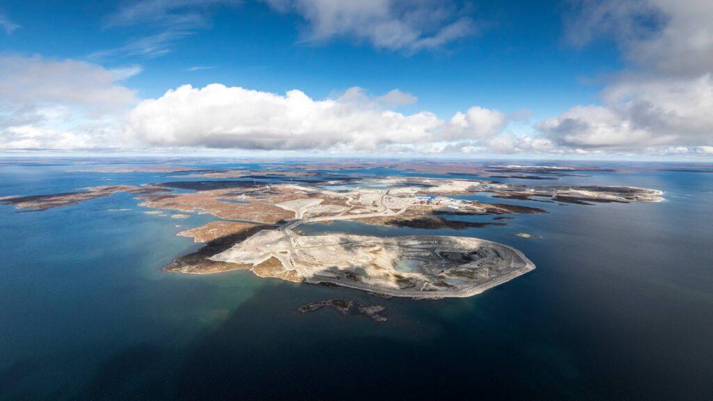 The Diavik Diamond Mine located in Canada's Northwest Territory