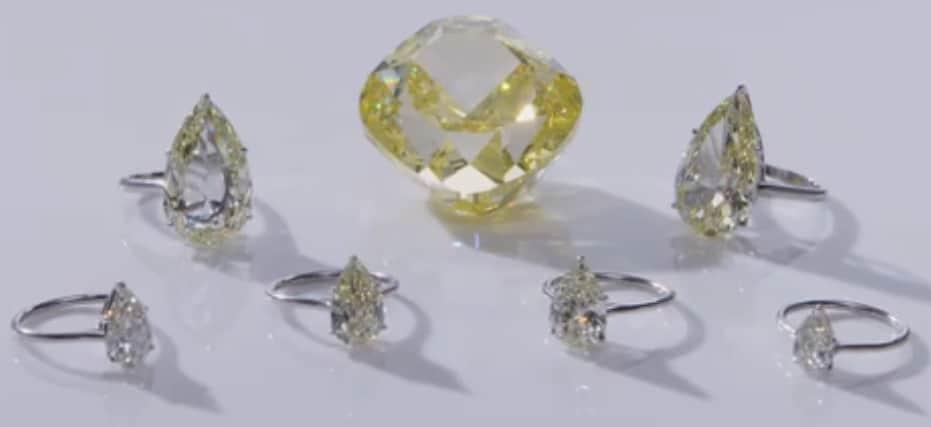 Dancing sun and six satellite diamonds