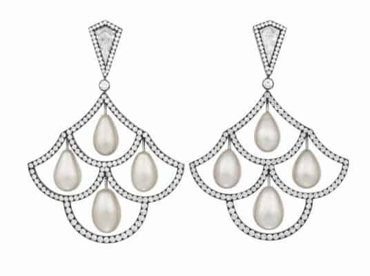 No 153, titled JAR NATURAL PEARL AND DIAMOND EARRINGS
