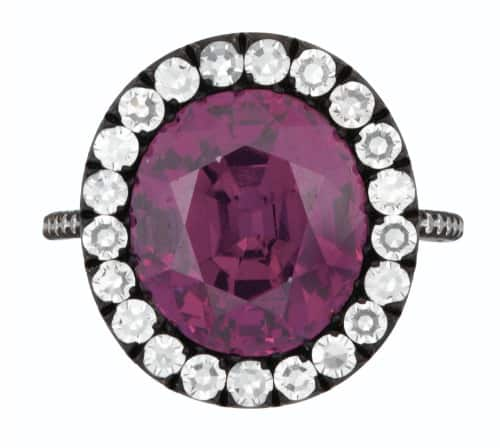 JAR COLORED SAPPHIRE, RUBY AND DIAMOND 'MATHILDE' RING