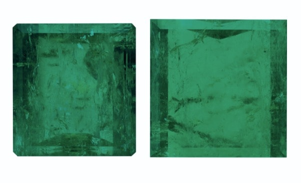 LOT 78 – TWO UNMOUNTED EMERALDS