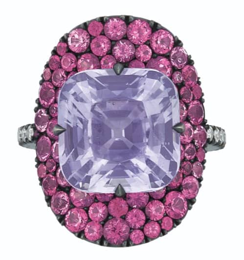"""JAR LOT, titled JAR COLORED SAPPHIRE, PINK SPINEL AND DIAMOND """"BONNET"""" RING"""