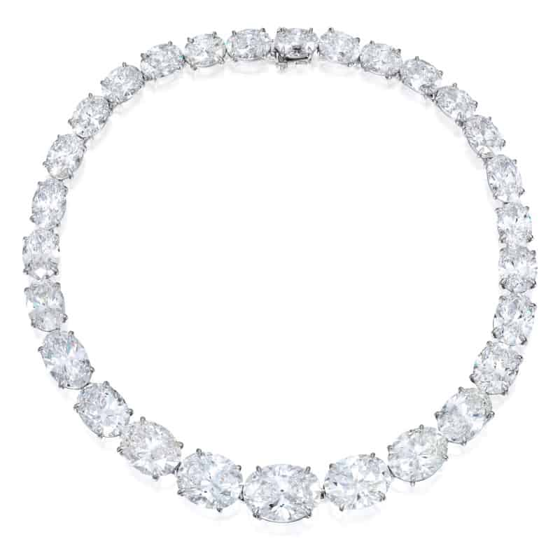 LOT 93 – A MAGNIFICENT DIAMOND NECKLACE BY ANDREW CLUNN
