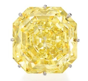 Lot 91 - G by GLENN SPIRO – THE SIENNA STAR, FANCY VIVID YELLOW DIAMOND AND DIAMOND RING