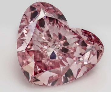 1.48-carat Queen of hearts Argyle pink diamond, from Fitzpatrick collection